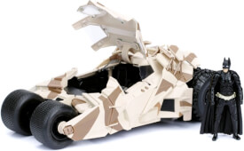 Batman The Dark Knight Diecast Modell 1/24 2008 Batmobile Camo mit Figur