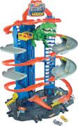 Mattel GJL14 Hot Wheels Megacity Parkgarage mit T-Rex-Angriff