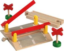 BRIO 33388004 Bahnübergang, Holz, ab 36 Monate - 10 Jahre, mehrfarbig
