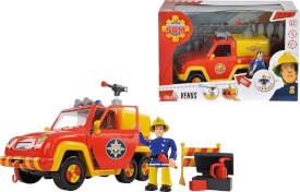 Simba Feuerwehrmann Sam - Feuerwehrauto Venus inkl. Sound und Zubehör, Kunststoff, ca. 19 cm, ab 3 Jahre