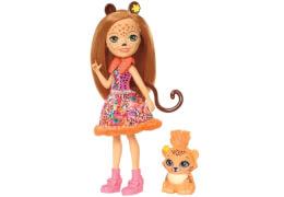 Mattel FJJ20 Enchantimals Gepardenmädchen Cherish Che