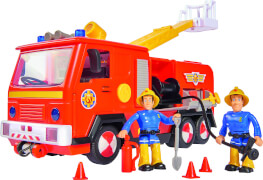 Simba Feuerwehrmann Sam - Feuerwehrauto ''Jupiter 2.0'' mit 2 Figuren (Sam, Elvis)