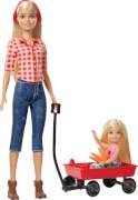 Mattel GCK84 Barbie® Farm Barbie + Chelsea Puppen