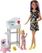 Mattel FJB01 Barbie #Skipper Babysitters Inc.'' Puppen und Töpfchen-Training Spielset