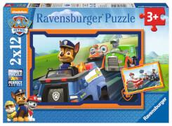 Ravensburger 07591 Puzzle: Paw Patrol im Einsatz 2x12 Teile