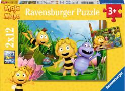 Ravensburger 076246 Puzzle: Ausflug mit Biene Maja 2 x 12 Teile