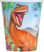 Dinosaurier Pappbecher 266ml 8 Stück